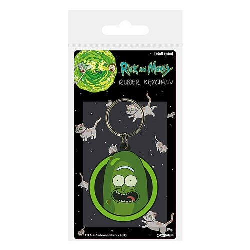 Rick and Morty Pickle Rick Keyring Rubber Keychain Fob